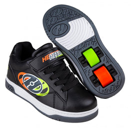 Heelys Swerve X2 Shoes - Black/Neon Yellow/Flame