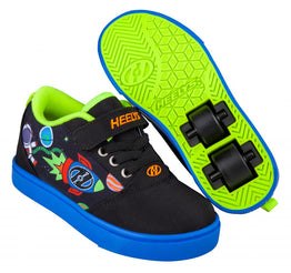 Heelys Pro 20 X2 Shoes - Black/Blue/Olympic Yellow Space