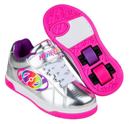 Heelys Swerve X2 Shoes - Silver/Multi Rainbow