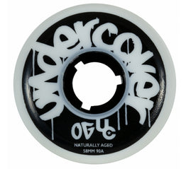 Undercover Naturally Aged Aggressive Inline Skate Wheels - 58mm/90A (Discoloured)