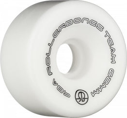 Rollerbones Team Quad Wheels White 62mm 98a (Pack of 8)
