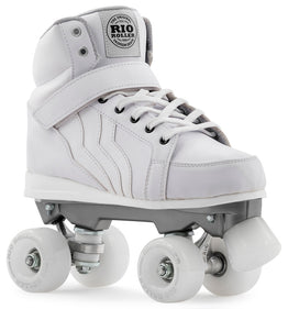 Rio Roller Kicks Quad Skates - White UK10 (Ex Display)
