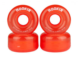 Rookie Disco Quad Wheels 4 Pack 58mm - Clear Red