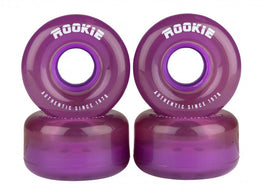 Rookie Disco Quad Wheels 4 Pack 58mm - Clear Purple