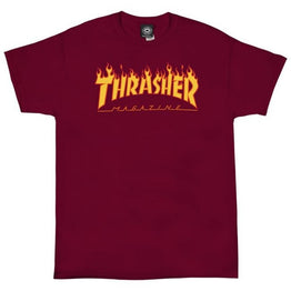 Thrasher Flame Logo T-Shirt - Cardinal Red