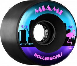 Rollerbones Quad Skate Wheels Miami Outdoor 65mm 80A (Pack of 8)