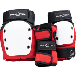 Pro-Tec Street Gear Junior 3 Pack Pad Set - Red/White/Black