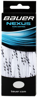 Bauer Nexus Pure Control Ice Hockey Laces - White