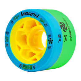 Reckless Morph Quad Wheels Pack of 4 - Blue Green