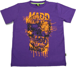 Madd Gear Bonehead T-Shirt - Purple