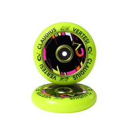 Claudius Vertesi Signature 110mm Scooter Wheels - Yellow (Pair)