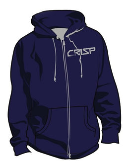 Crisp Scooters Zip Hoody - Blue / Grey
