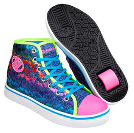 Heelys Veloz Shoes - Denim / Glitter / Rainbow