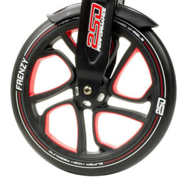 Frenzy 250mm Scooter Wheel Black / Red