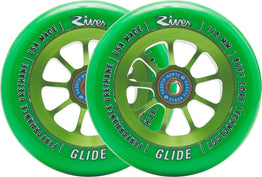 River Glide Wheels - Emerald Green - 110mm (1xPair)