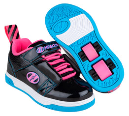 Heelys Rift Shoes - Black/Neon Pink/Cyan