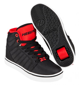 Heelys Uptown Hi-Top Shoes - Black / Red Ballistic