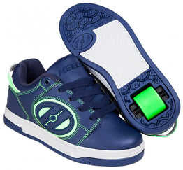 Heelys Voyager Shoes - Navy / Bright Green