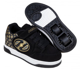 Heelys Plus X2 Lighted Shoes - Black/Gold/Logo