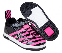 Heelys Rift Shoes - Black/Hot Pink/Stripe