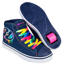 Heelys Veloz Shoes - Denim / Rainbow / Drip
