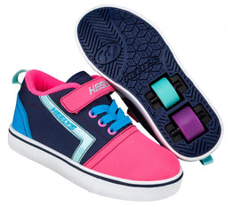 Heelys Gr8 Pro X2 Shoes - Navy/Pink/Cyan