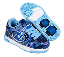 Heelys Plus X2 Lighted Shoes - Purple/Blue/Lightning