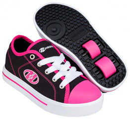 Heelys Classic X2 Shoes - Black / White / Hot Pink