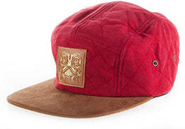 Kaltik 5 Panel Adjustable  Hat - Brick Red