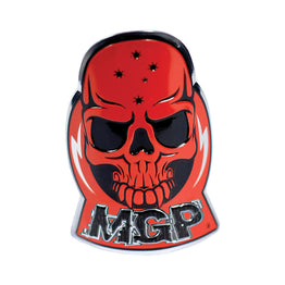 Madd Gear Alloy Skull Headtube Decal Sticker - Red