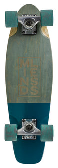 Mindless Stained Daily 3 Cruiser Skateboard - Grey/Teal