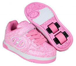 Heelys Plus X2 Lighted Shoes - Pink Patent / White Logo