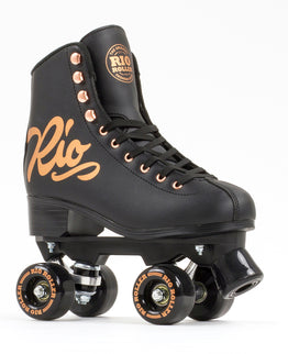 RIO ROLLER ROSE QUAD SKATES - BLACK
