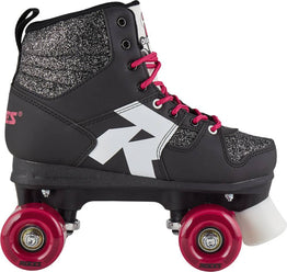 Roces Disco Palace Retro Roller Skates - Glitter Black