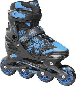 Roces Jokey 3.0 Adjustable Inline Skates - Black/Astro Blue