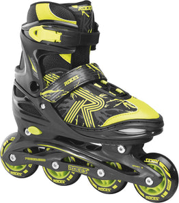 Roces Jokey 3.0 Adjustable Inline Skates - Black/Lime
