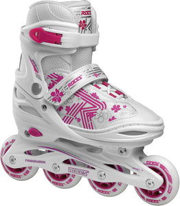 Roces Jokey Girls 3.0 Adjustable Inline Skates - White Pink