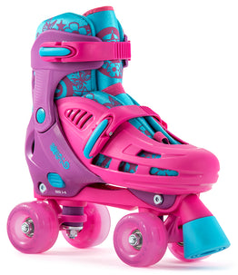 SFR Lightning Hurricane Adjustable Quad Skate Pink