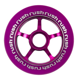 Rush Aluminium Hub 5 Spoke 100mm Scooter Wheel Purple with Purple Core