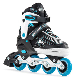 Sfr Pulsar Adjustable Inline Skates - Black White Blue