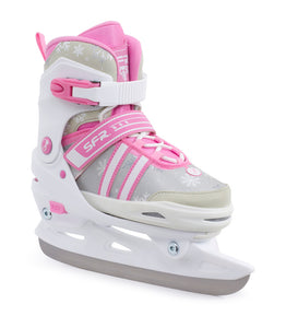 SFR Nova Adjustable Childrens Ice Skates - White / Pink