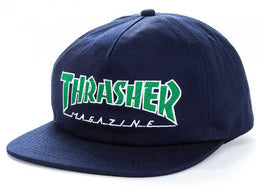 Thrasher Outlined Snap Back Cap - Navy/Green