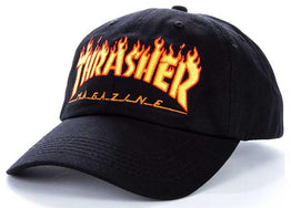 Thrasher Flames Old Timer Cap - Black