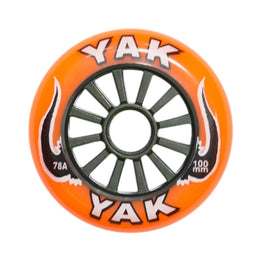Yak Classic 100mm Orange / Black High Performance Scooter Wheel