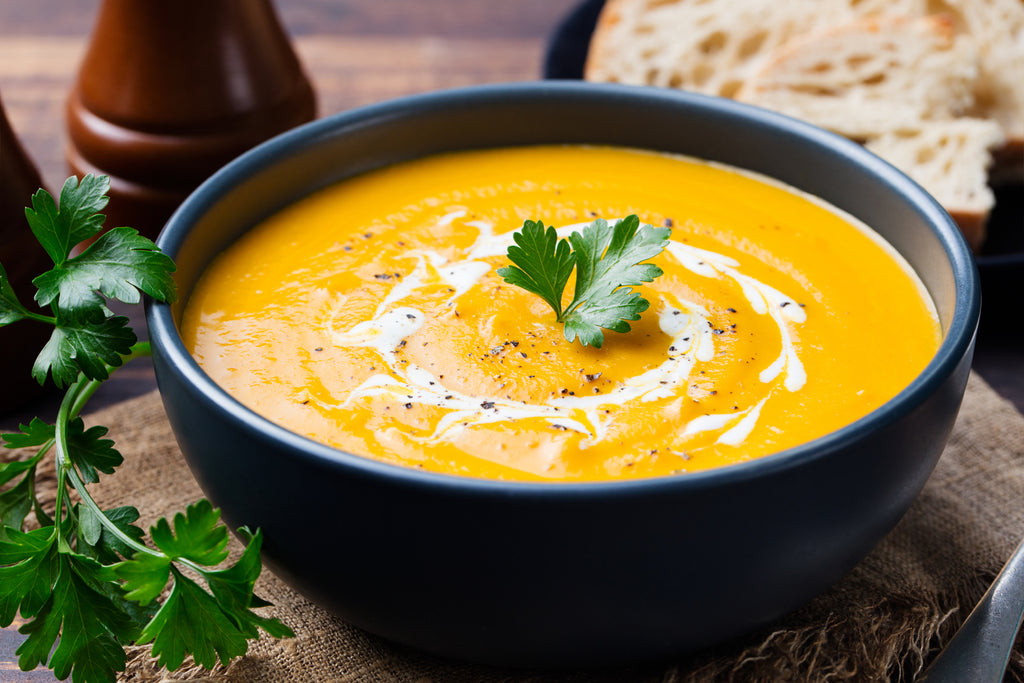 Curried Carrot & Cashew Nut Soup Recipe