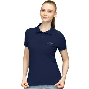 Gowings Whale Trust - Womens Polo Shirt - Blue