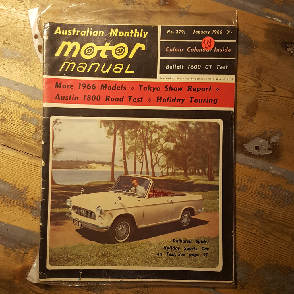 Motor Manual Magazine January 1966 No. 279