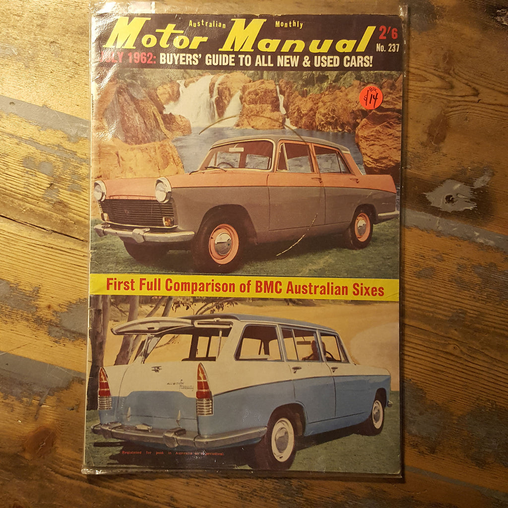 Motor Manual Magazine July 1962 No. 237