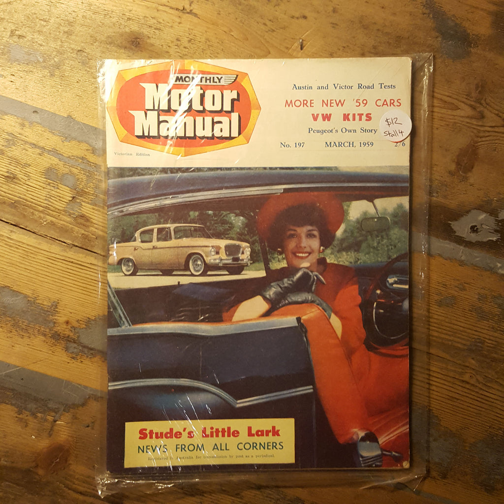 Motor Manual Magazine March 1959 No. 197