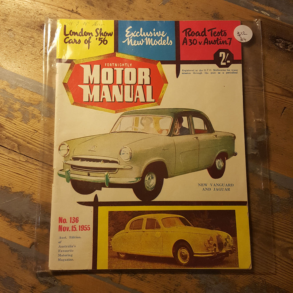 Motor Manual Magazine November 15 1955 No. 136